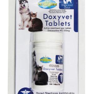 Vetafarm Doxyvet Doxycycline Antibiotic Tablets For Cats Dogs